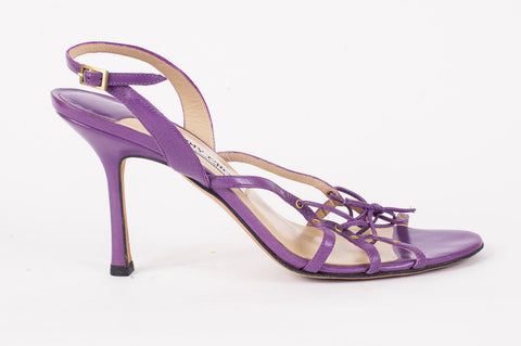 Pre-owned Jimmy Choo Strappy Lilac Sandals Size 40 EU 10 US