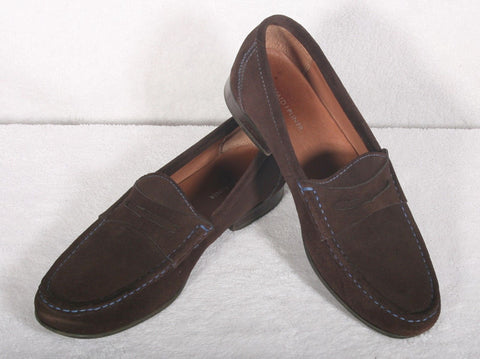 Used Men's Donald Pliner Naper Chocolate Brown Suede Loafer 10.5 M