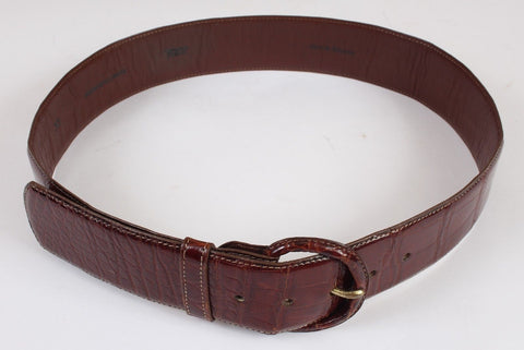 Women's Brown American Alligator Belt Size 75cm Small 8 US 30""