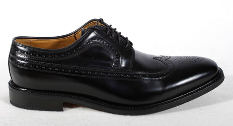 NWB Men's Sebago Black Wingtip Dress Shoes Size 13 M Retail $275