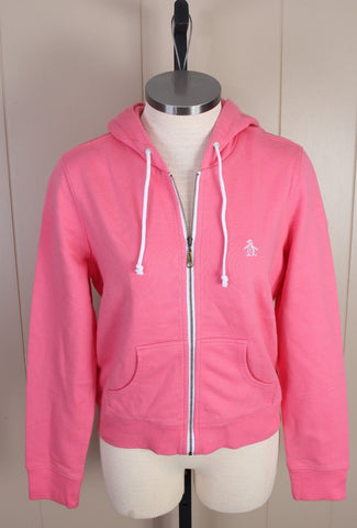 New Women's Original Penguin Pink Zip Hoodie Size Medium MSRP $65
