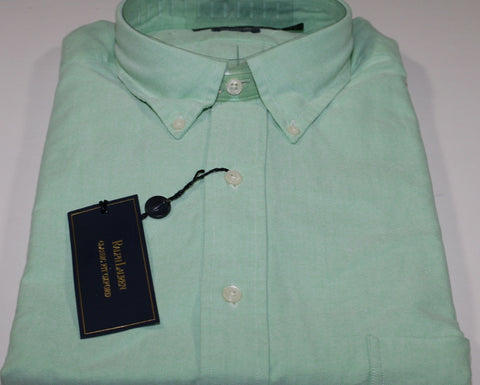 NWT Men's Big and Tall Solid Lt Green Cotton Oxford Button Down Shirt XLT