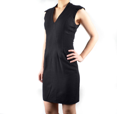 Women's Detailed Black Helmut Lang Knit Dress Size 4