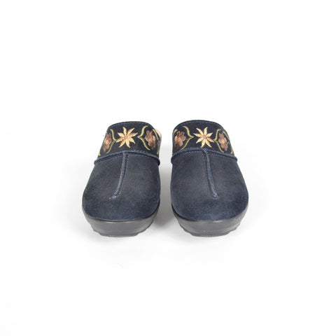 Women's Fly Flot Embroidered Mules
