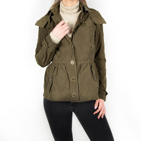 Women's Burberry Nylon Jacket Olive Size: 6