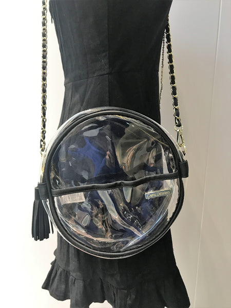 RESTOCK: Canteen Clear Crossbody: Black