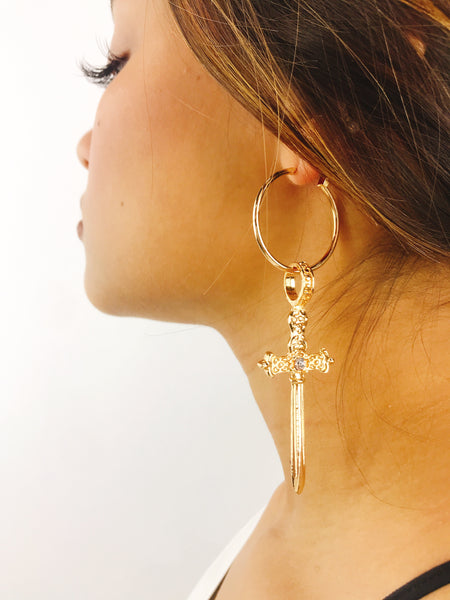 Silas Earring: Gold