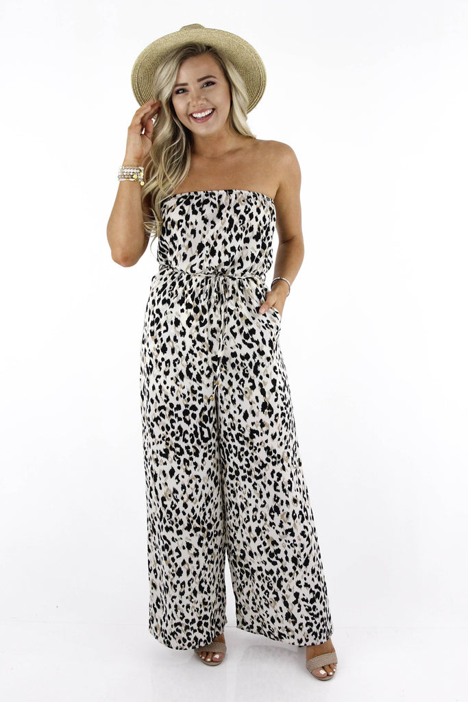 Carrying Your Love Leopard Print Jumpsuit