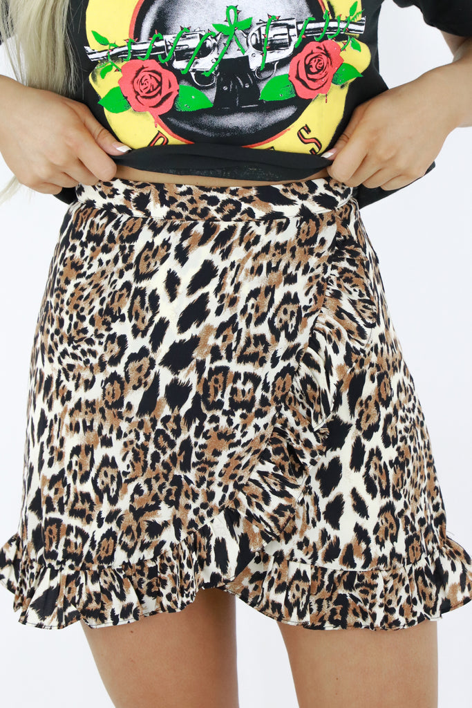 City Savvy Leopard Skirt