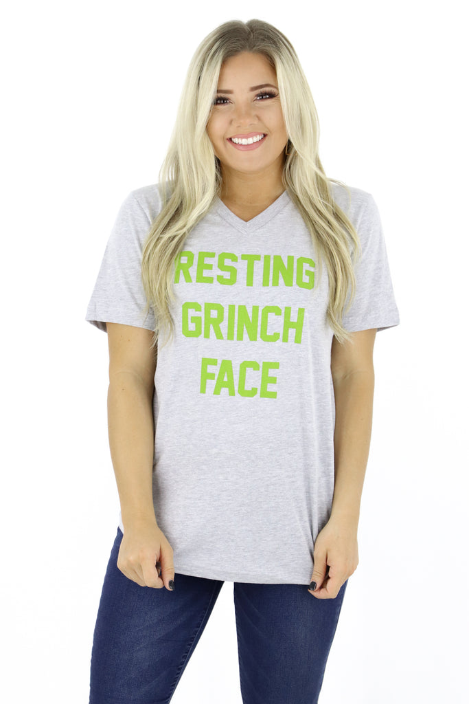 Resting Grinch Face Graphic Tee