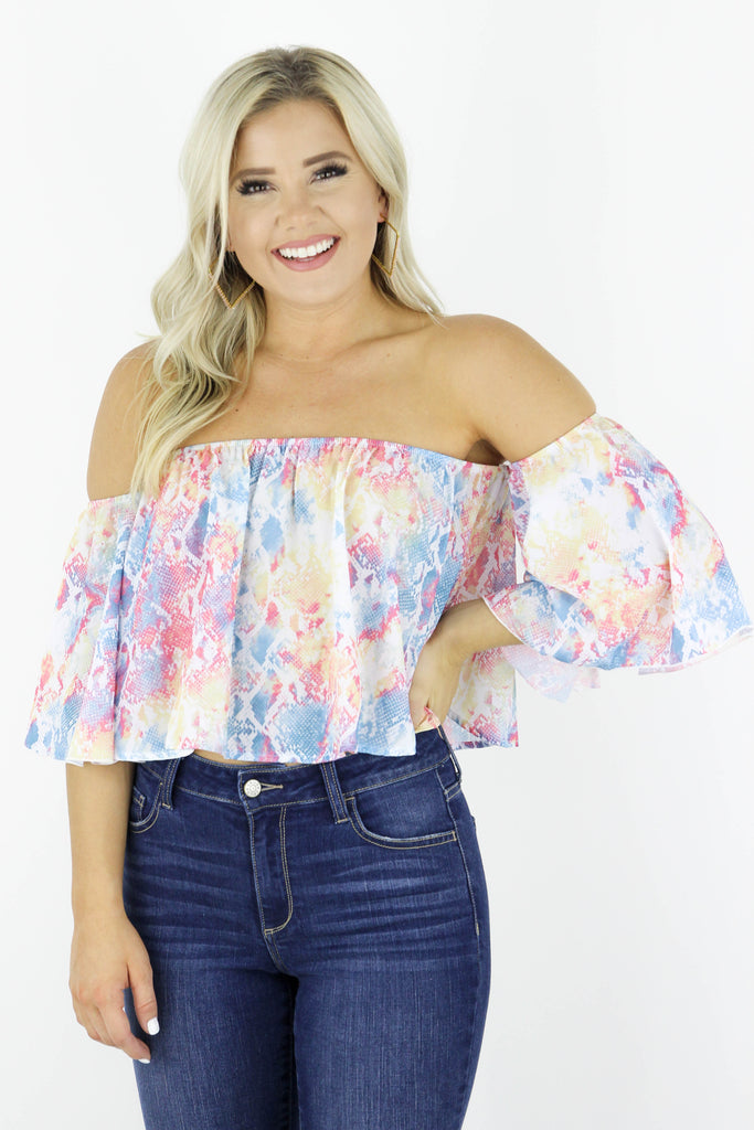 Full Of Life Off The Shoulder Top