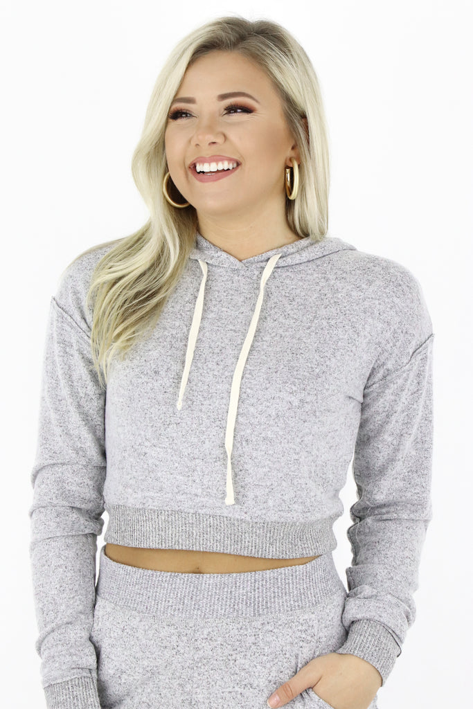 Have The Day Off Crop Pullover