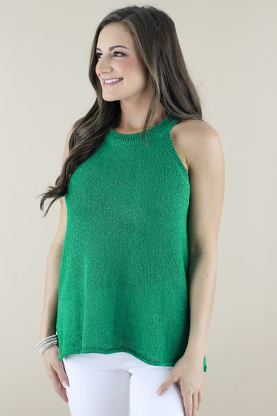 Bold Decisions Halter Sweater Tank: Available in 2 Colors