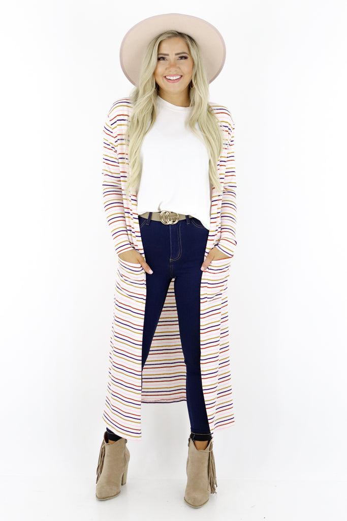 Better For You Striped Cardigan