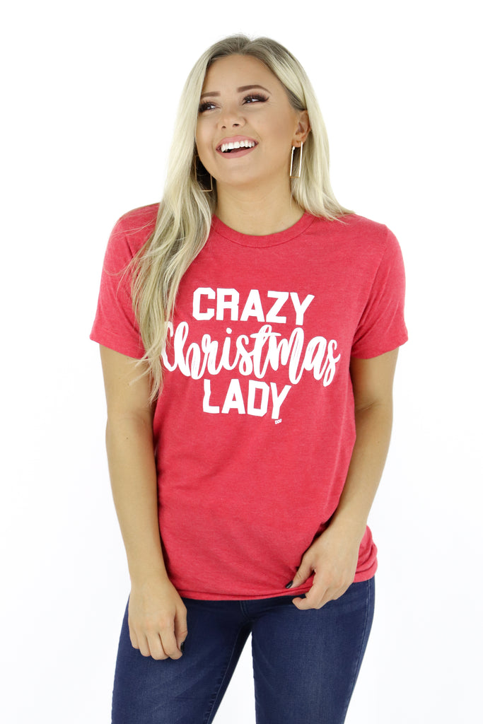 RESTOCK: Crazy Christmas Lady Graphic Tee