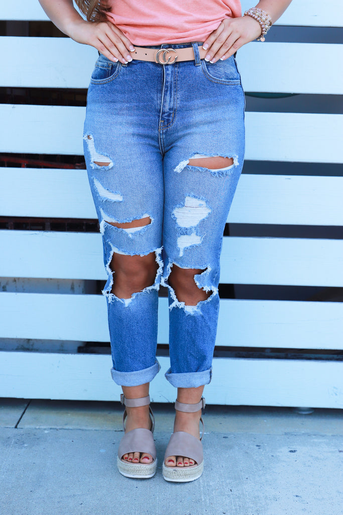 RESTOCK: Buy Some Time High Rise Straight Jeans
