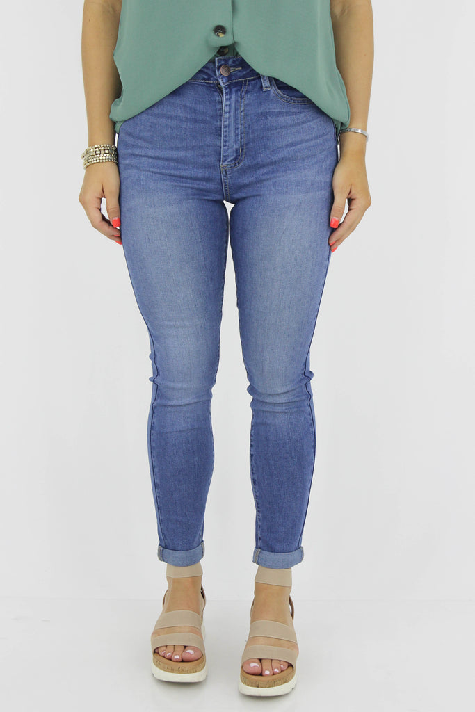 The Perfect Fit High Rise Cuff Ankle Skinny