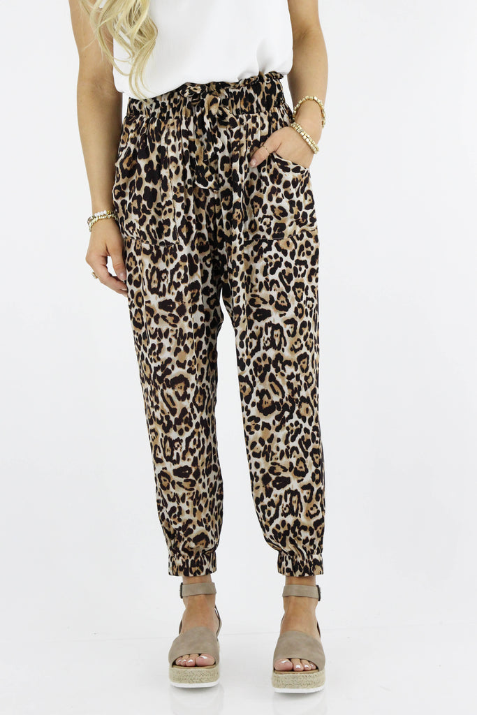 RESTOCK: Jump Around Leopard Print Cropped Pants