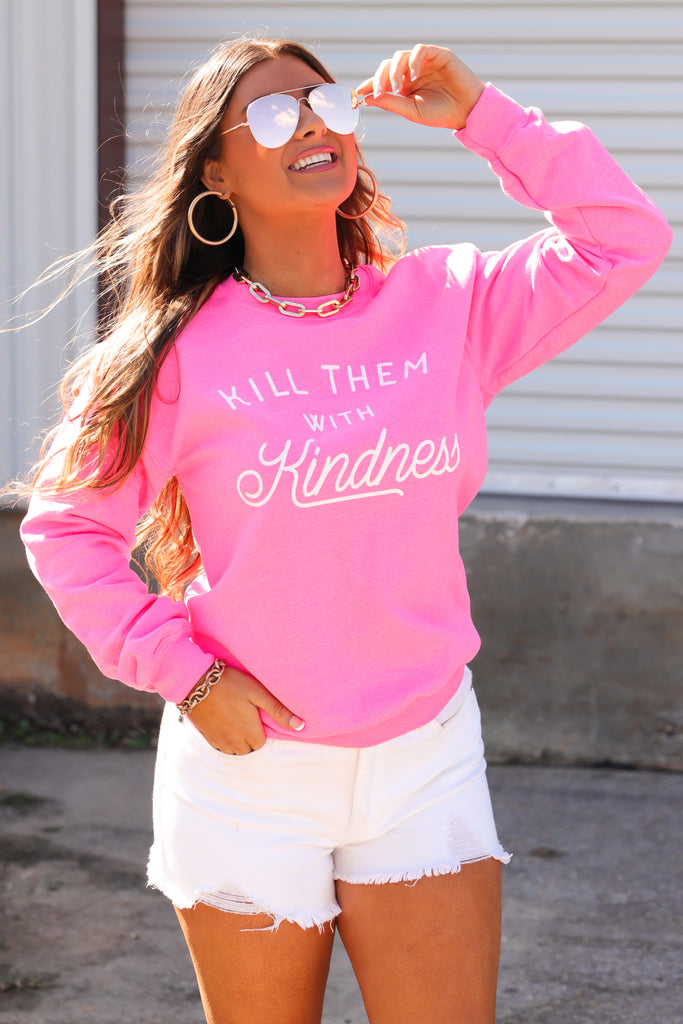 RESTOCK: Kill Them With Kindness Graphic Pullover
