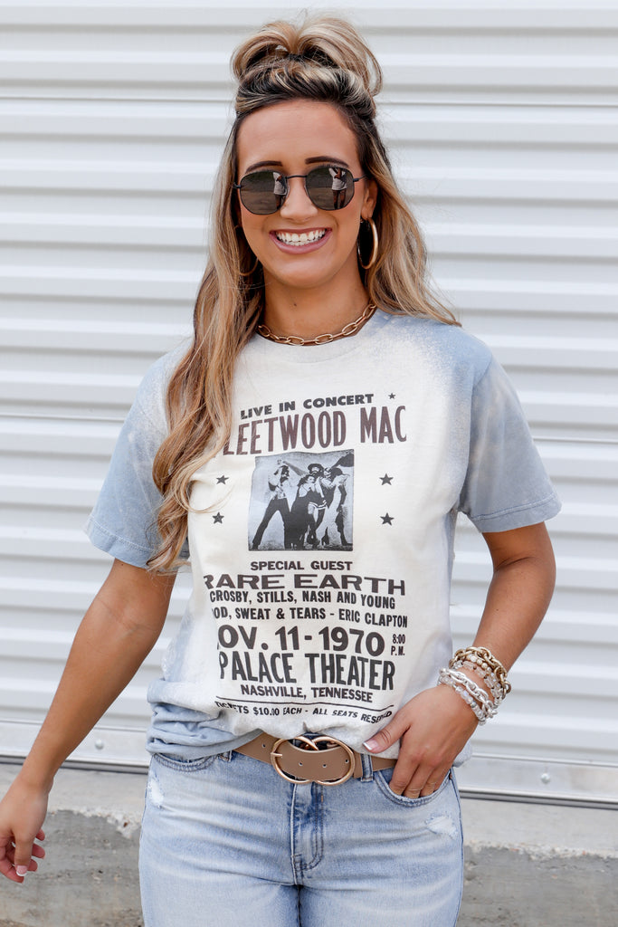 RESTOCK: Fleetwood Mac Live In Concert Bleached Graphic Top