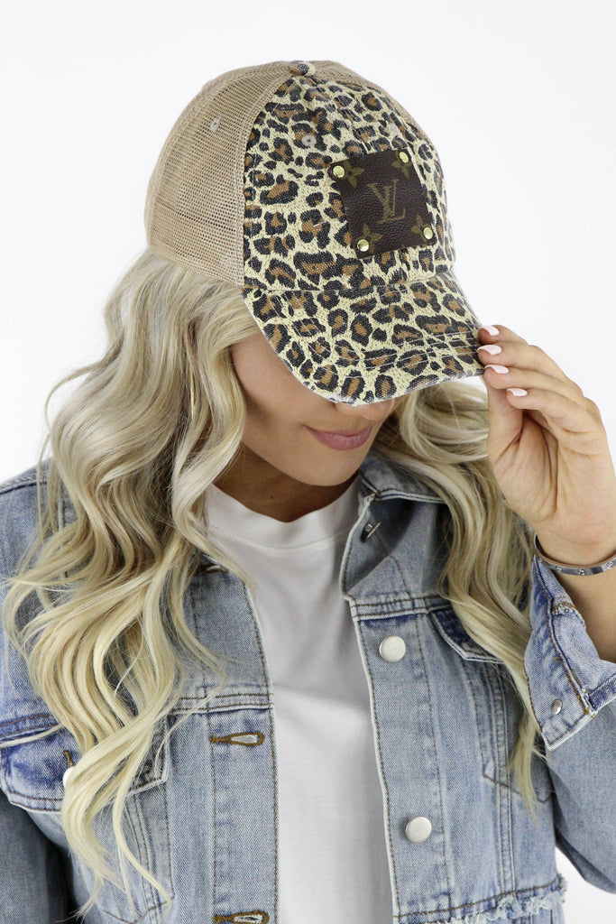 Re-Purposed Leopard LV Hat