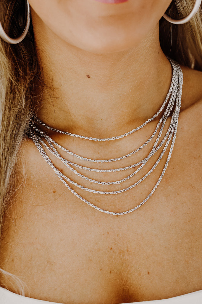 Layered Chain Link Necklace