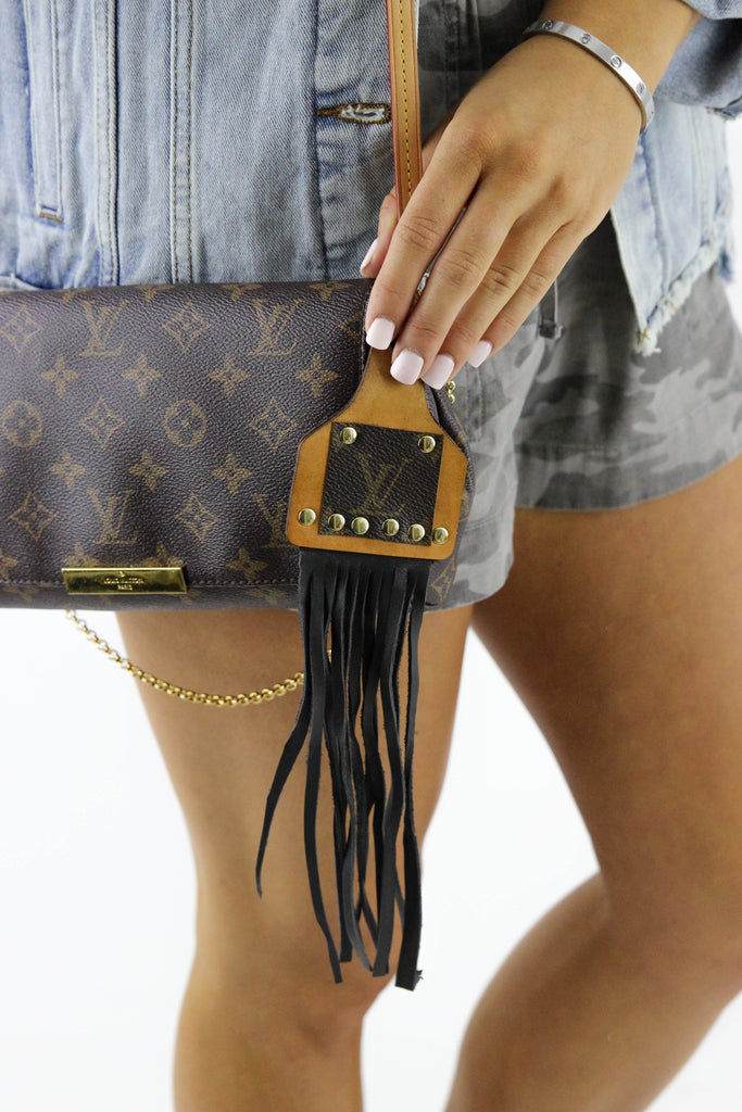 Re-Purposed LV Fringe Key Chain