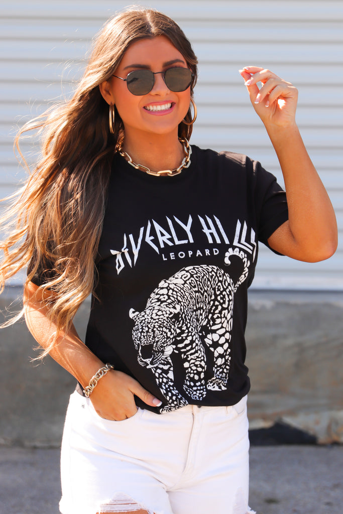 Beverly Hills Leopard Graphic Top