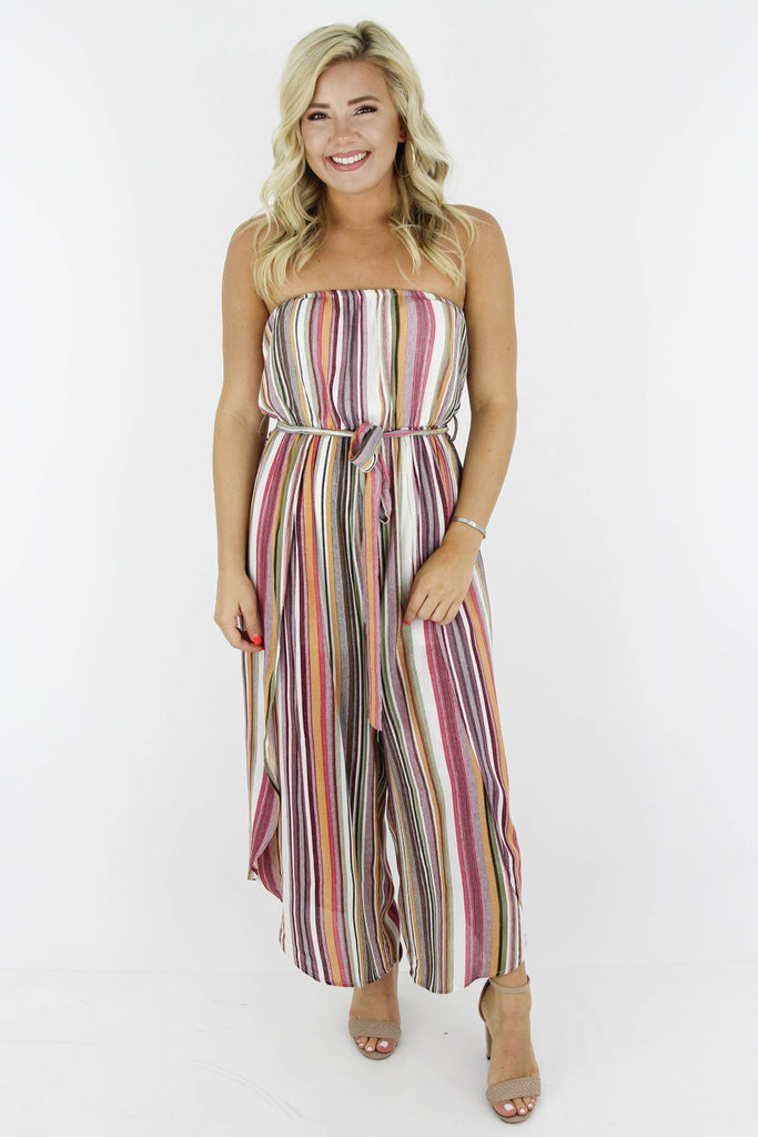 Here Today Strapless Jumpsuit