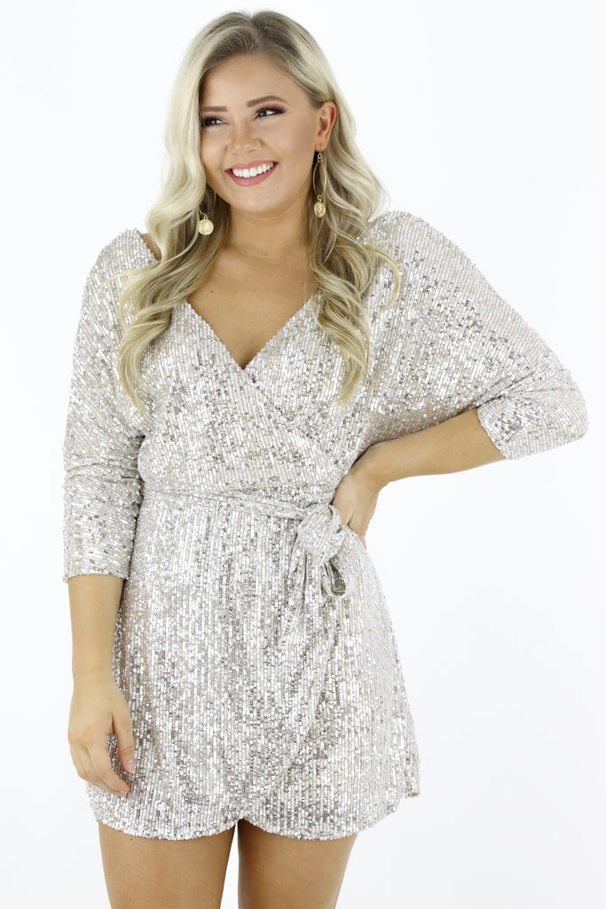 Shine Some Light Sequin Dress