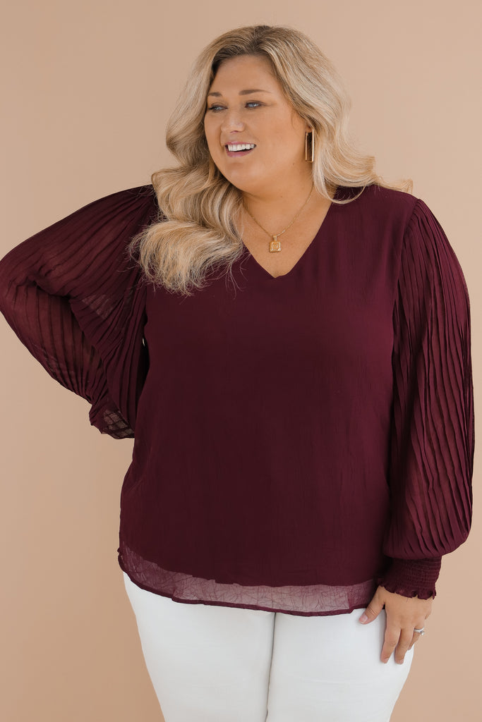CURVY: Nothing Lasts Forever Blouse