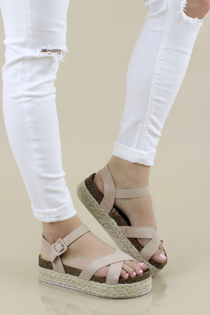 Catch A Glimpse Suede Wedge: Available in 2 Colors