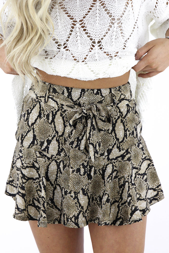 Are You Waiting Snake Skin Skort