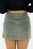 Tell Me Why Corduroy Mini Skirt
