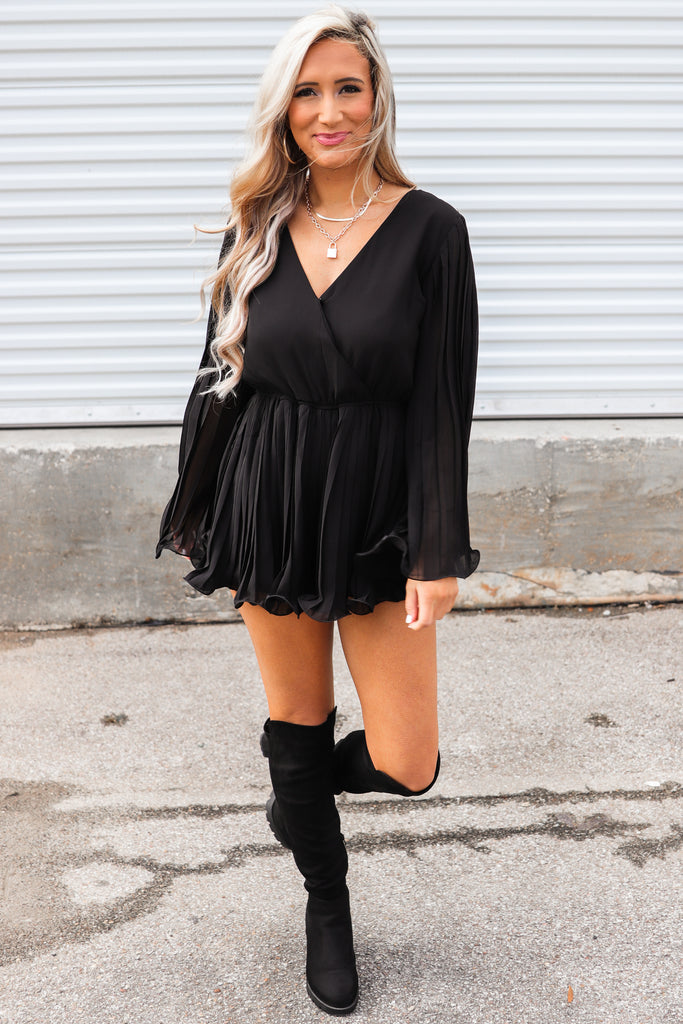 Charming Looks Pleated Romper
