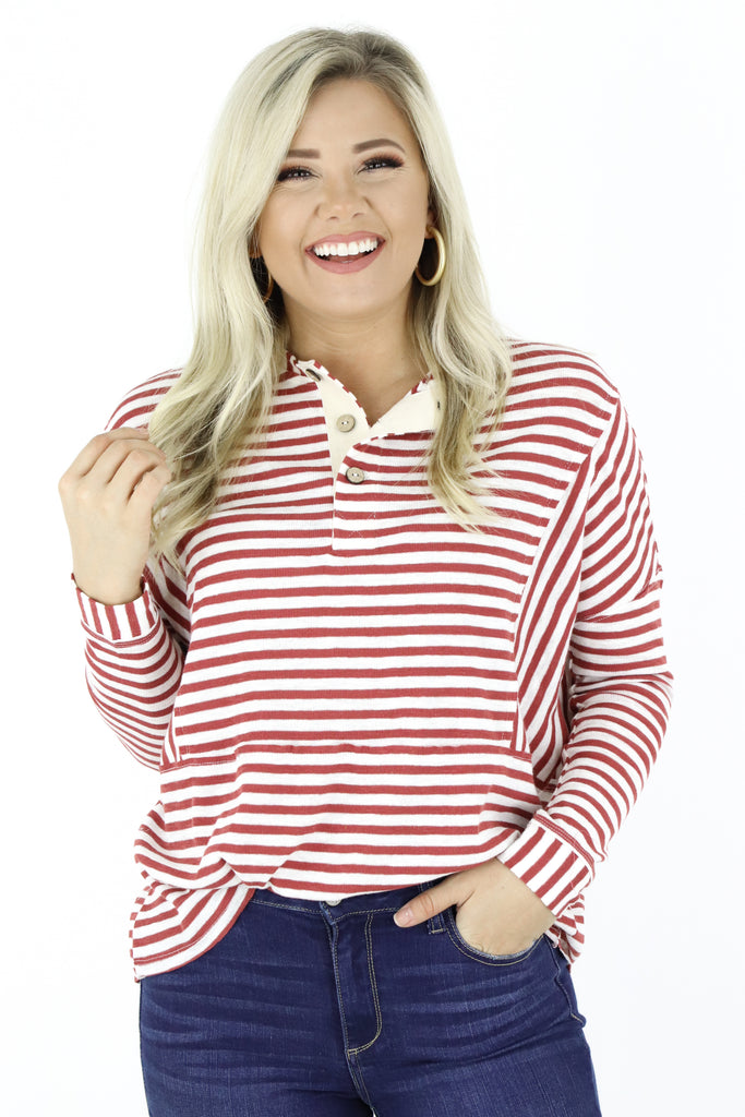 Smooth Talker Striped Top