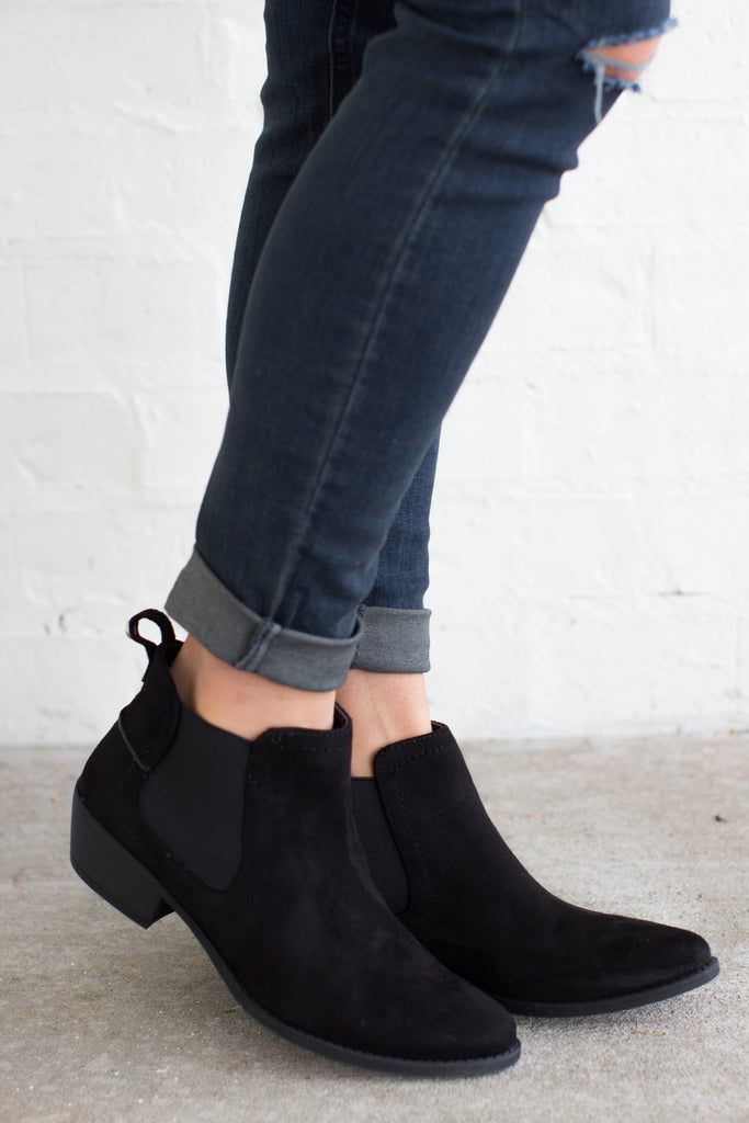 All The Rage Ankle Booties: Black