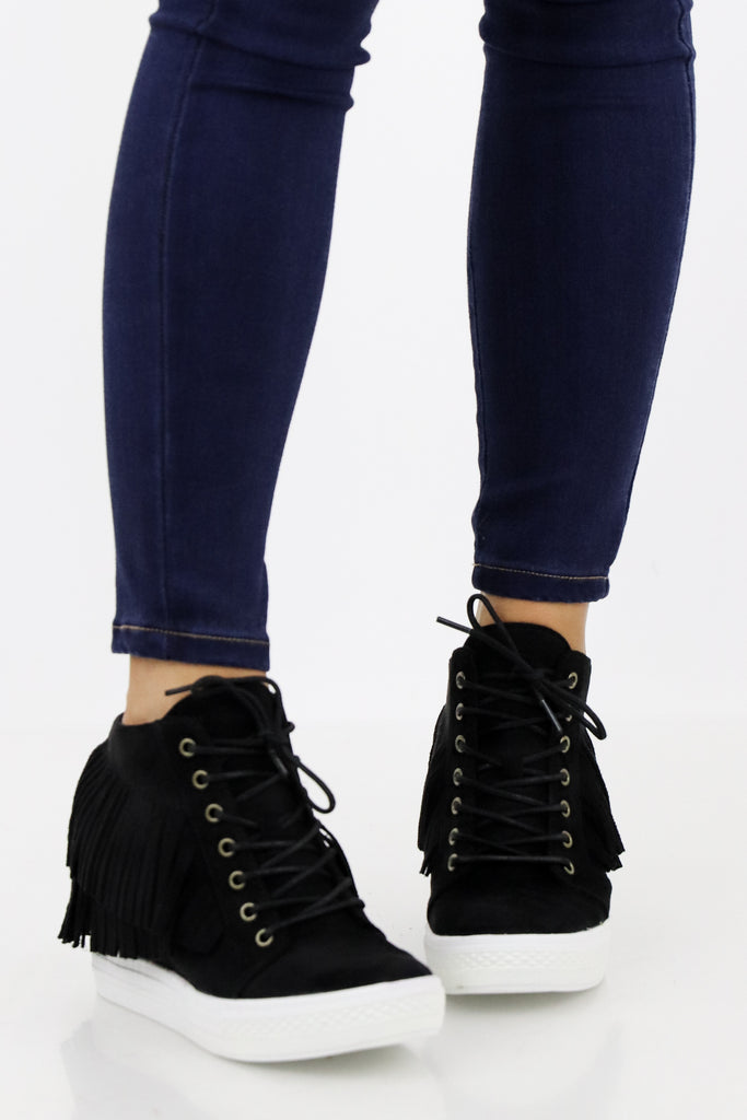 Give Me Some Space Fringe Sneaker Wedge