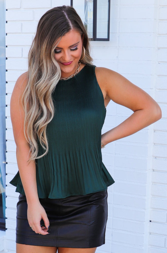 A Strong Connection Pleated Top