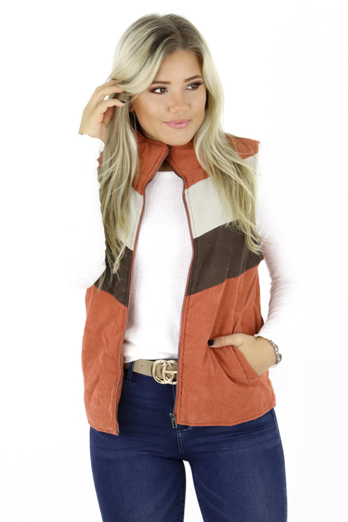 Fallin' In Love Corduroy Vest