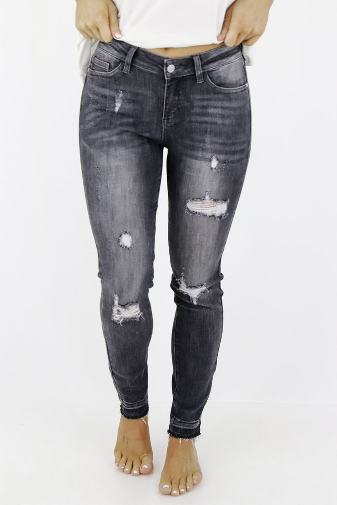 Easy Days Ahead Distressed Skinny Jeans
