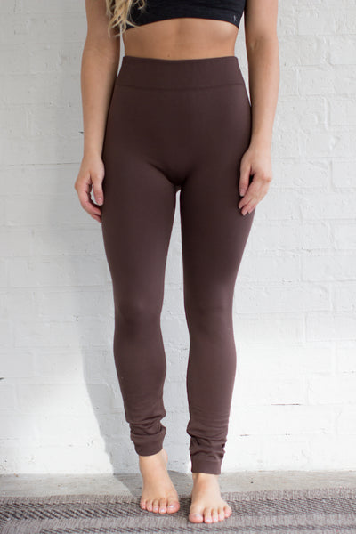 Favorite Fleece Leggings: Dark Brown