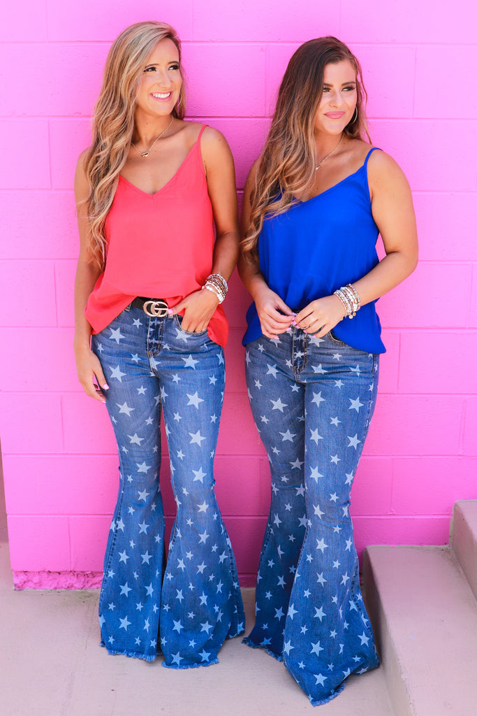 Comfort In Chaos Star Flare Jeans