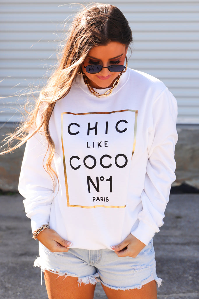RESTOCK: Chic Like Coco Graphic Pullover