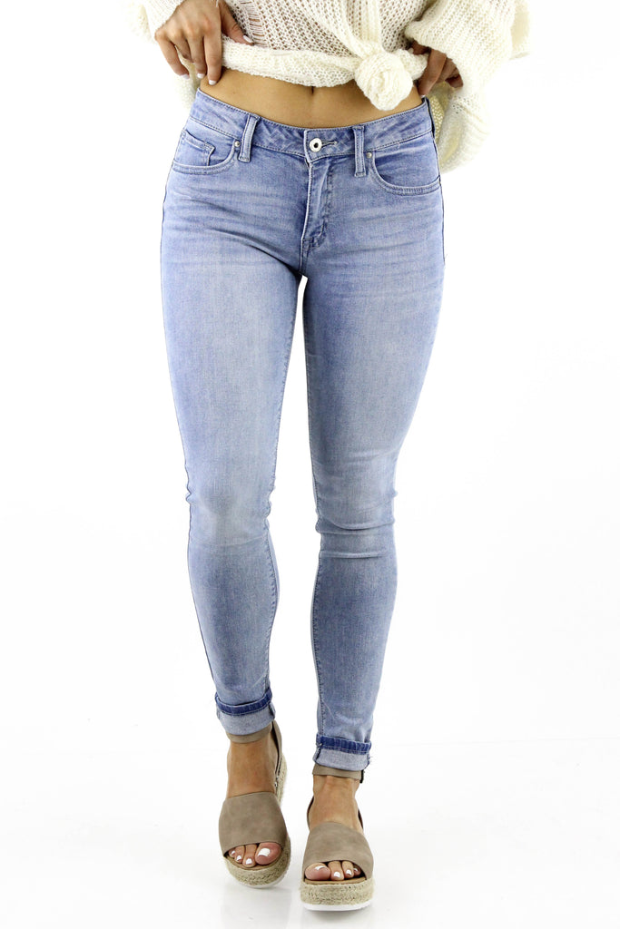 More To Say Mid Rise Ankle Skinny Jean