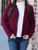 Just Be Yourself Jacket: Burgundy