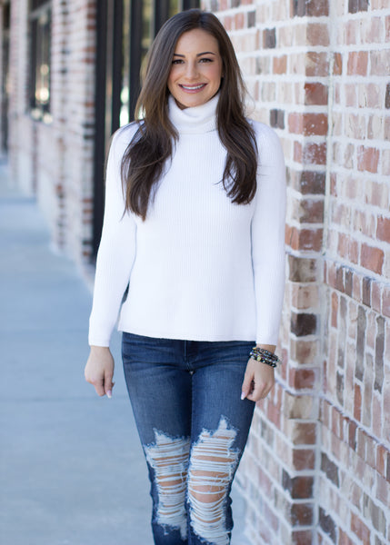 All Time Best Turtle Neck Sweater: White