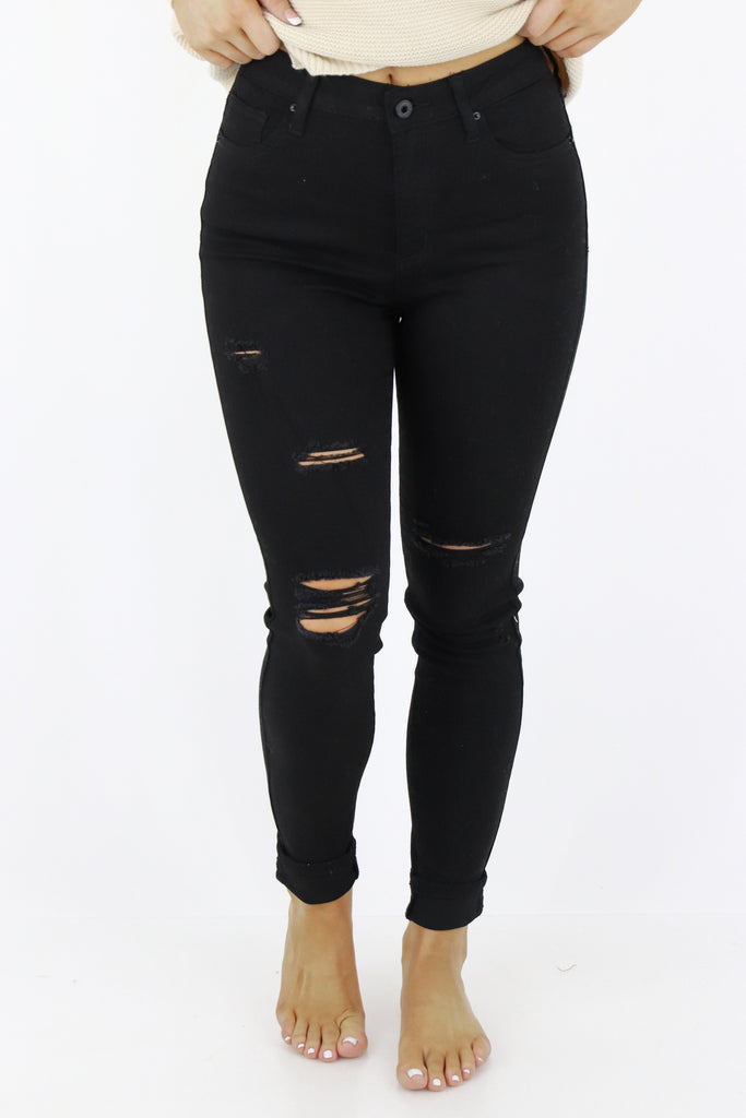 Top Choice Distressed Skinny Jeans