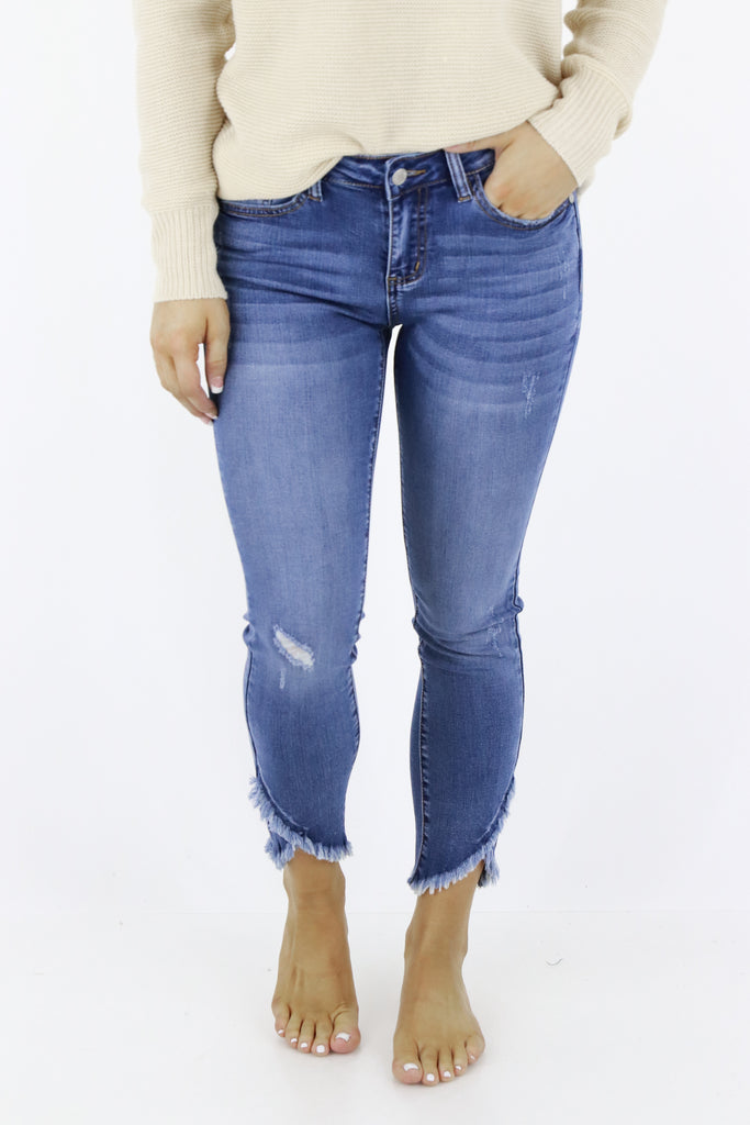 So Much Joy Distressed Skinny Jeans