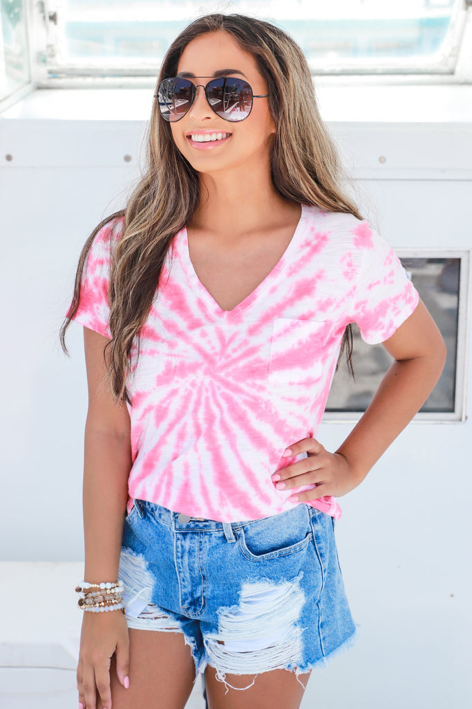 Out Of Control Tie Dye Top